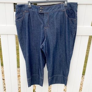 Lane Bryant Dark Wash Cropped Ankle Pants Capris
